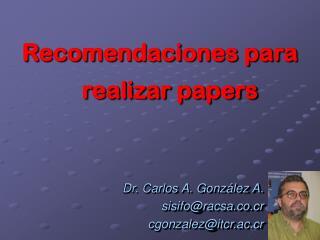 Recomendaciones para realizar papers