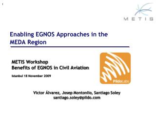 Enabling EGNOS Approaches in the  MEDA Region