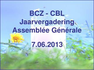 BCZ - CBL Jaarvergadering Assembl�e G�n�rale