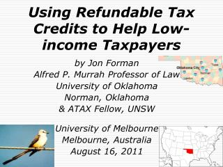 Using Refundable Tax Credits to Help Low-income Taxpayers