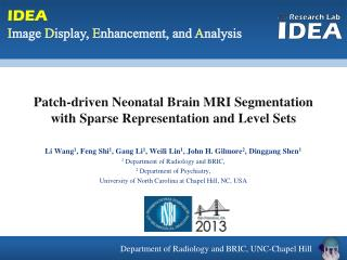 Patch-driven Neonatal Brain MRI Segmentation  with Sparse Representation and Level Sets
