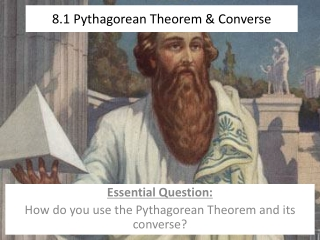 The Pythagorean Theorem and Its Converse