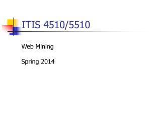 ITIS 4510/5510