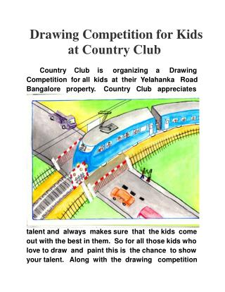Drawing Competition for Kids at Country Club