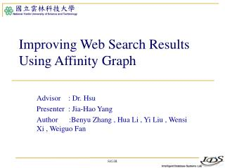 Improving Web Search Results Using Affinity Graph