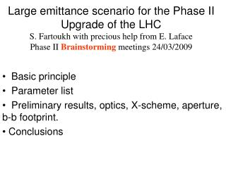 Basic principle   Parameter list