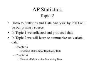 AP Statistics Topic 2