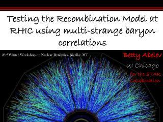 Testing the Recombination Model at RHIC using multi-strange baryon correlations