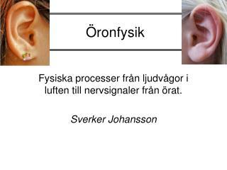 Öronfysik
