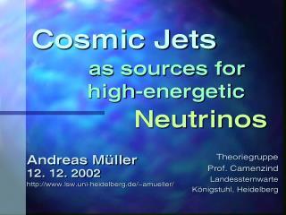 Cosmic Jets