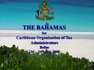 THE BAHAMAS for Caribbean Organization of Tax Administrators Belize 21st   24th July 2008