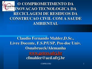 Estado da Arte Inventário de RSU do Estado de São Paulo
