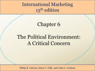 Chapter 6  The Political Environment: A Critical Concern