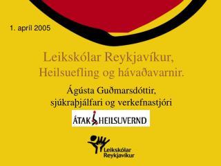 Leikskólar Reykjavíkur,   Heilsuefling og hávaðavarnir.