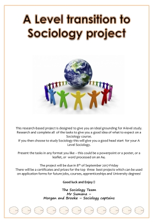 Sociology of Gender:  Research Based Teaching