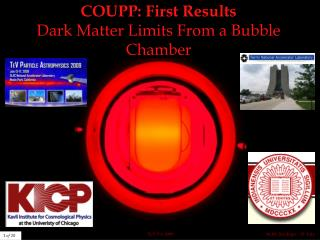 COUPP: First Results Dark Matter Limits From a Bubble Chamber