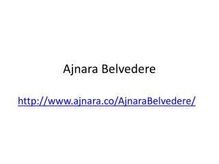 Ajnara Belvedere Noida Sector - 79 @ 09650-127-127