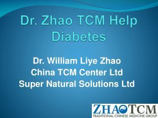 Dr. Zhao TCM Help Diabetes