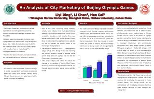 An Analysis of City Marketing of Beijing Olympic Games