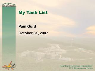My Task List
