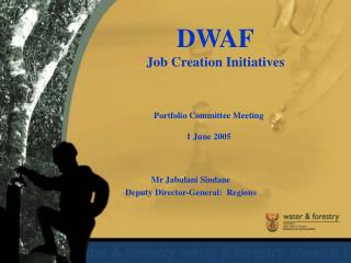 DWAF Job Creation Initiatives