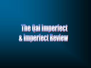 The Qal Imperfect