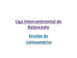 Liga Intercontinental de Baloncesto