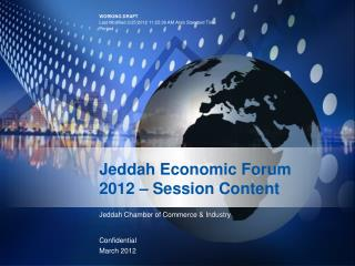 Jeddah Economic Forum 2012 – Session Content