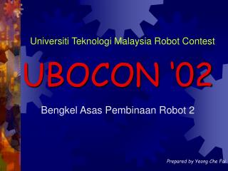 Bengkel Asas Pembinaan Robot 2