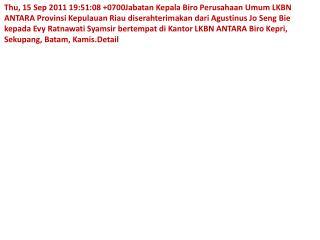 web Evy Ratnawati pimpim LKBN ANTA Suci