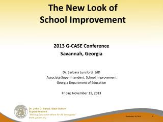 The New Look of  School Improvement