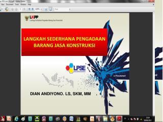 Pengembangan LPSE Nasional  Menuju 100% Eprocurement