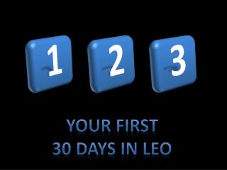 Your first 30 days in LEO