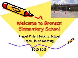 Welcome to Bronson Elementary School