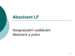 Absolvent LF