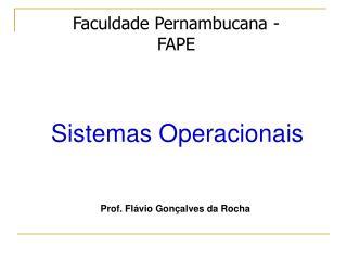 Faculdade Pernambucana - FAPE