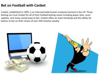 Bet on Football with Canbet