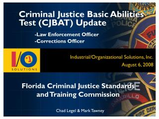 Florida Criminal Justice Standards and Training Commission