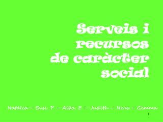 Serveis i recursos  de car�cter social