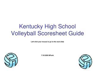 Kentucky High School Volleyball Scoresheet Guide