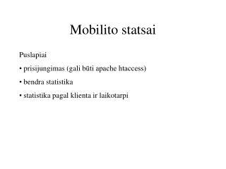 Mobilito statsai