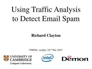 Using Traffic Analysis to Detect Email Spam
