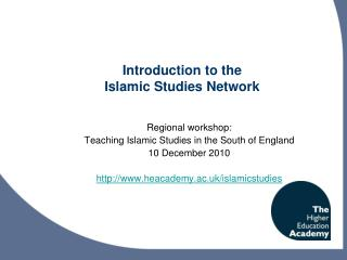 Introduction to the  Islamic Studies Network