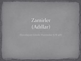 Zamirler (Adıllar)