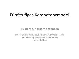 Fünfstufiges Kompetenzmodell