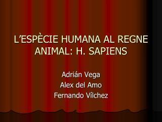L'ESPÈCIE HUMANA AL REGNE ANIMAL: H. SAPIENS