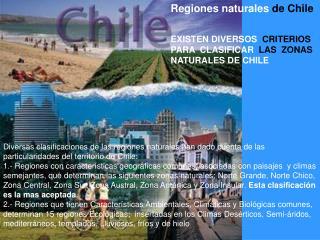 Regiones naturales  de Chile