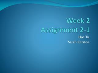 Week 2 Assignment 2-1