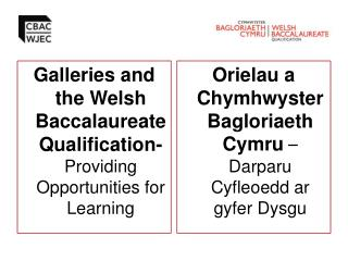 Galleries and the Welsh Baccalaureate Qualification-  Providing Opportunities for Learning