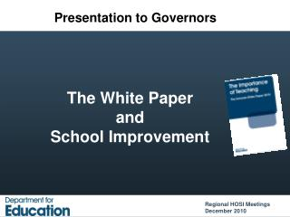 The White Paper  and  School Improvement